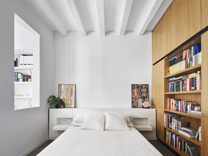 Décor do dia: um quarto com estante para quem ama livros