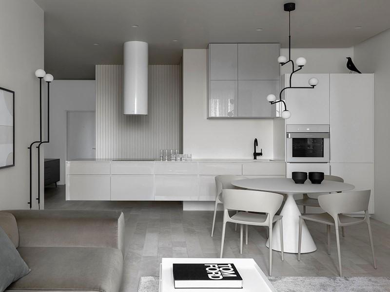 Décor do dia: cozinha branca integrada e minimalista