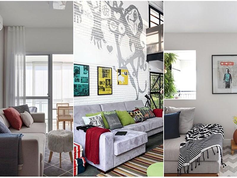 Como decorar o sofá com mantas e almofadas? 10 ideias para se inspirar