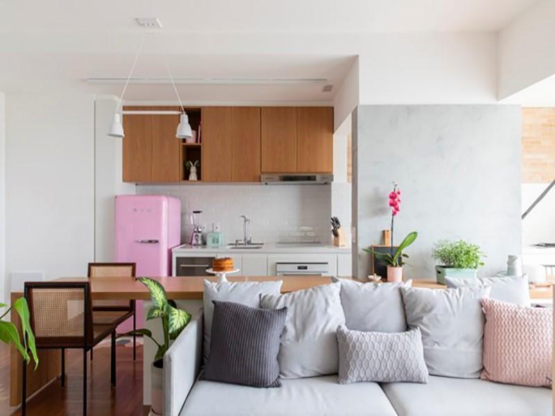 66 m²: apê divertido, colorido e com personalidade para uma mulher solteira